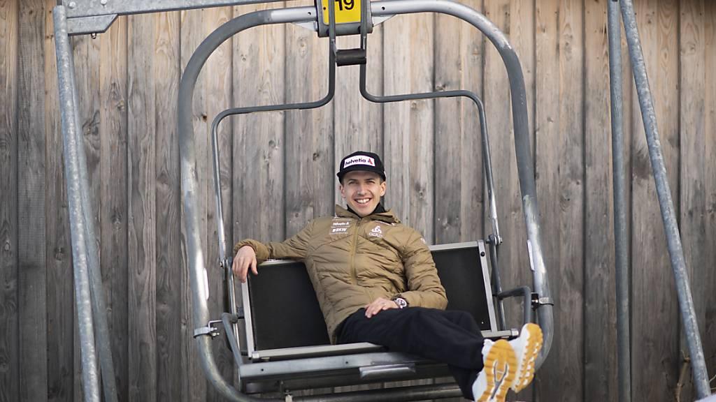 Noch nicht bereit fürs bequeme Altenteil: Simon Ammann bestreitet in Oberstdorf seine elfte Weltmeisterschaft