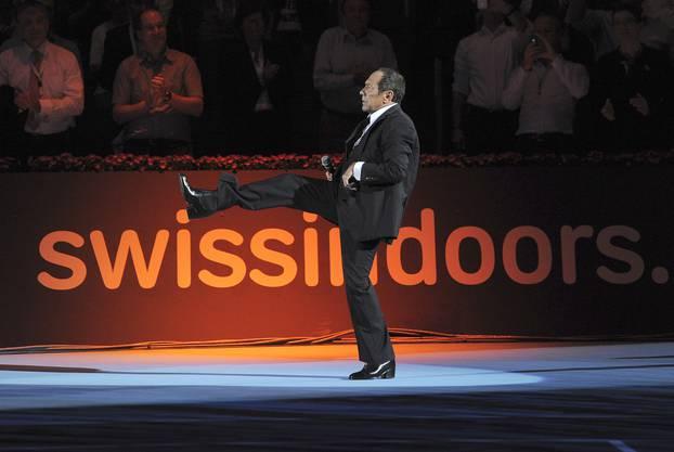 Showact mit Paul Anka in Concert beim Swiss Indoors Tennisturnier.