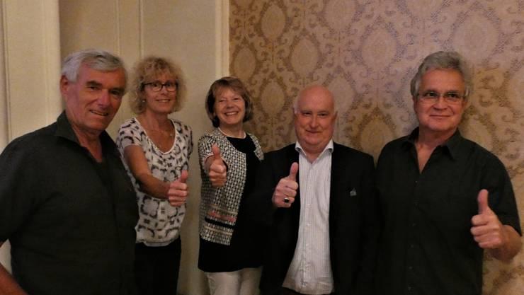 So sieht der neue Vorstand des Tourismusvereins aus (v. l.): Peter Belart (Co-Präsidium), Monika Bingisser, Barbara Iten (Co-Präsidium), Jürg Hässig und Roger Brogli.