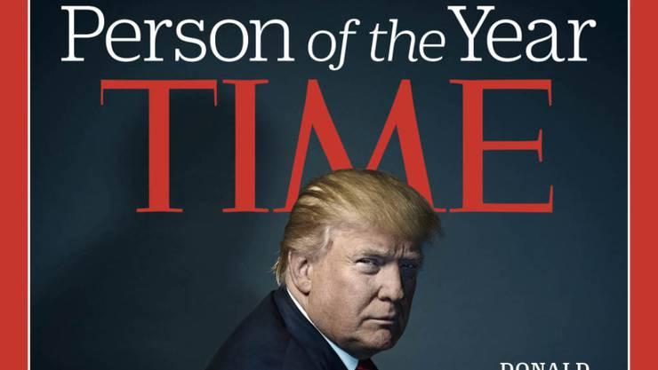 """Das Time Magazine wählte Donald Trump 2016 zur """"Persönlichkeit des Jahres"""". (Archivbild)"""