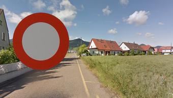 Die Neumattstrasse führt ins Industriegebiet. Doch hier herrscht Fahrverbot.