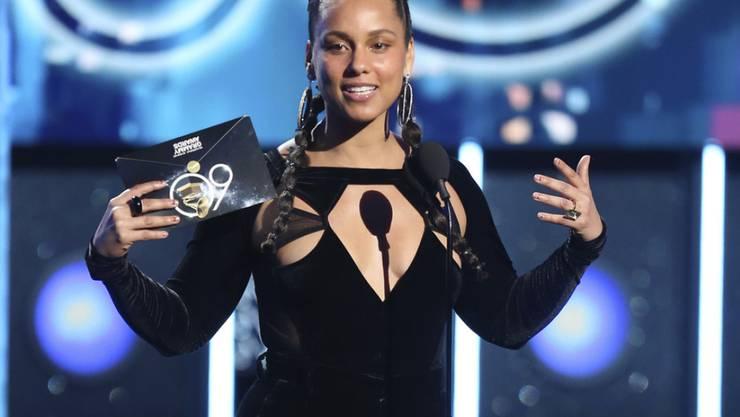 Wie es ist, Musikpreise abzusahnen, weiss US-Sängerin Alicia Keys bestens. Wie es sich anfühlt, die Grammys zu moderieren, wird sie dieses Jahr ebenfalls erfahren. (Archivbild)
