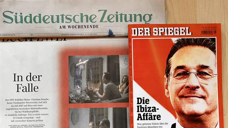 Medienspiegel zur Videoaffäre von Vizekanzler und FPÖ-Chef Heinz-Christian Strache: Strache hat für 12 Uhr eine Erklärung angekündigt.