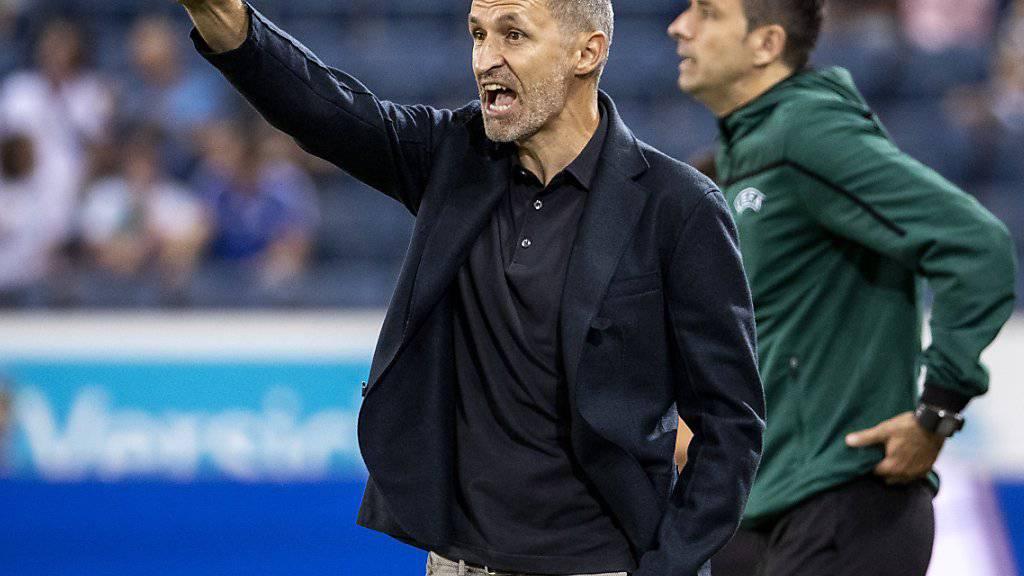 Luzerns Trainer Thomas Häberli steht im Rückspiel mit seinem Team bei Espanyol Barcelona vor einer so gut wie unlösbaren Aufgabe