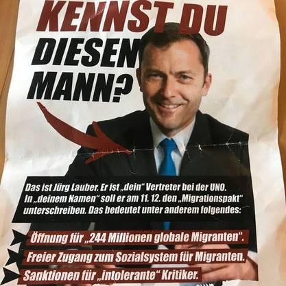 Mit diesem Flyer nehmen die Identitären Lauber ins Visier.