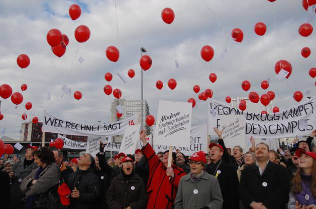 Campus Demo Ballonstart Windisch 08.01.2011