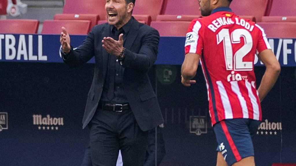 Atléticos Trainer Diego Simeone fand auch beim klaren 5:0-Sieg über Schlusslicht Eibar einiges Verbesserungspotenzial