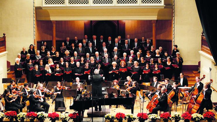 Der Konzertchor in Aktion.