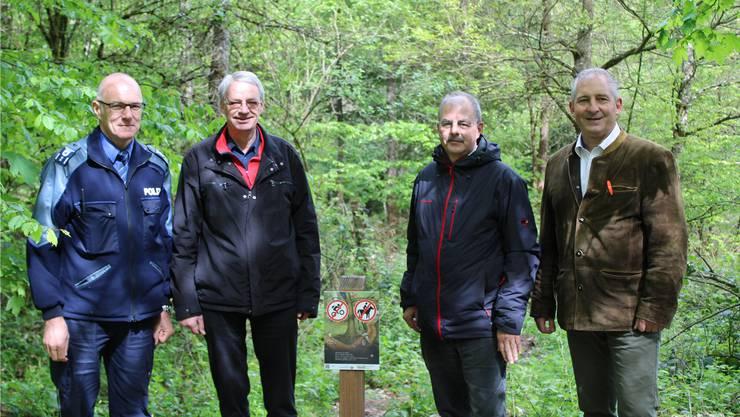 Präsentierten die neue Strategie : Ferdinand Bürgi, Martin Steinmann, Frank Hämmerli und Thomas Laube (v.l.).