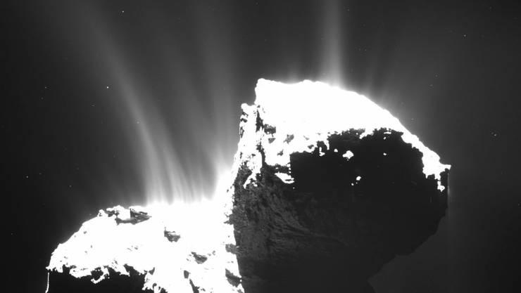 """Die Rosetta-Sonde soll kurz vor Ende ihrer Mission dem Kometen """"Tschuri"""" noch einmal so nahe kommen wie nie zuvor."""