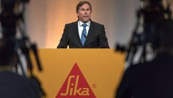 Jan Jenisch spricht an der Aktionärsversammlung der Sika – nun wird er CEO bei LafargeHolcim.