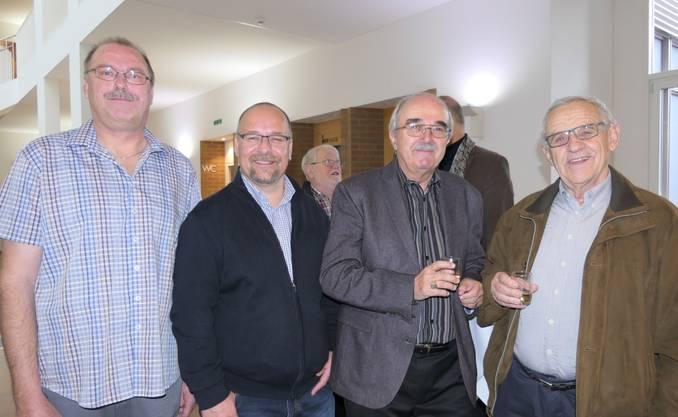 Werner von Holzen, Lorenz Fränzel, Arthur Huber (Adm.) und Walter Zürcher