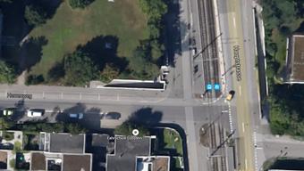 Zur Kollision kam es auf der Verzweigung Herrenweg/Hauptstrasse.