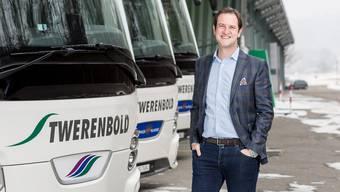 Karim Twerenbold, Chef des Badener Reiseunternehmens, freut sich auf die Zusammenarbeit mit dem Sawiris-Untternehmen.