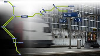 In Aarau soll es künftig mehr Züge geben, die nicht einfach vorbeibrausen. Die BLS möchte stündlich vier Mal in der Kantonshauptstadt halten.