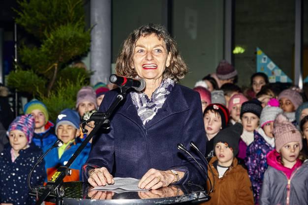 CVP-Zugpferd in Birmenstorf: Edith Saner an ihrer Wahlfeier als Grossratspräsidentin. (Bild: 07. Januar 2020)