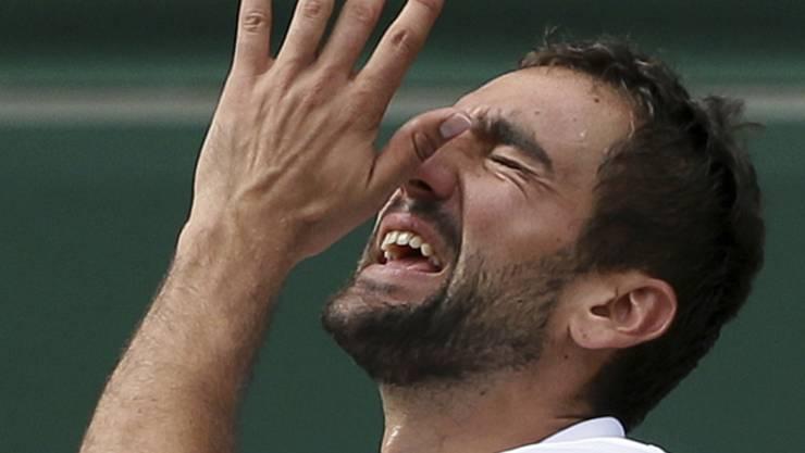 Der Kroate Marin Cilic, im Bild während des Wimbledon-Finals gegen Roger Federer, muss für Montreal passen