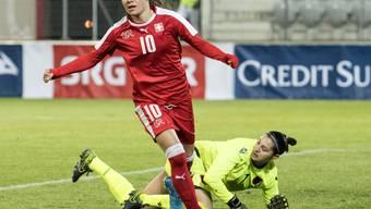 Ramona Bachmann traf zum 2:1 für die Schweiz gegen Albanien
