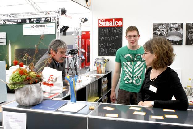 Perspektive Solothurn mit den beiden Co-Geschäftsleitern Roberto Zanetti und Karin Stoop (vorne). (Fotos: Andreas Kaufmann)