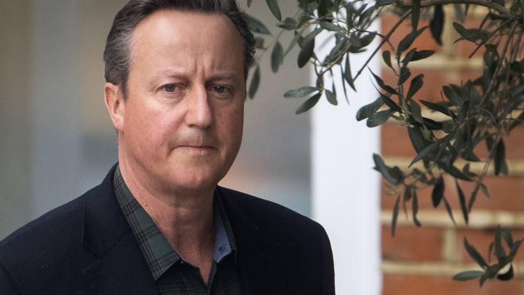 Ex-Premier Cameron verteidigt Lobbyismus für insolvente Firma
