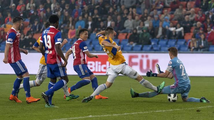 Im letzten Saisonspiel standen sich Jonas Omlin und der FC Basel noch gegenüber.