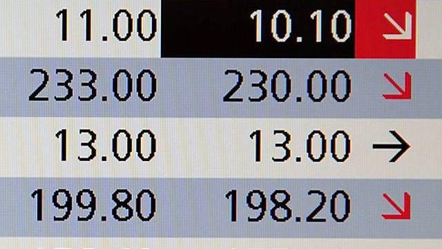 Starke Verluste auch bei Schweizer Börse (Archiv)