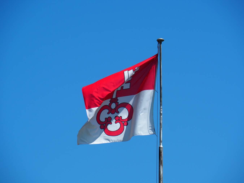 Die Flagge des Kantons Obwalden