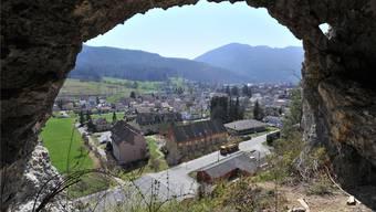 Blick aus dem Osterloch über den östlichen Teil von Balsthal, Richtung Klus und Schwängimatt.Bruno Kissling