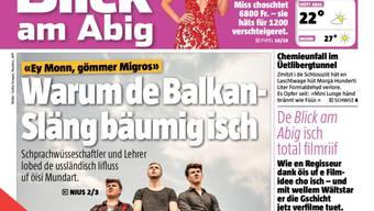 """""""Brännendi Lunge"""" und """"bäumige Balkan-Släng"""": Der Blick am Abend erschien am Dienstag """"uf Dialäkt"""""""