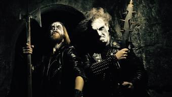 Ungfell: Bandleader Menetekel und Schlagzeuger Válant.
