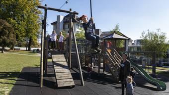 Der Spielplatz auf der Chantierwiese in Solothurn.