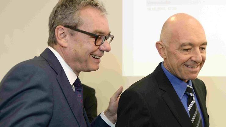 Das künftige Duo für den Stand Zürich? Ruedi Noser (FDP) muss in den 2. Wahlgang. Daniel Jositsch (SP) hats geschafft.