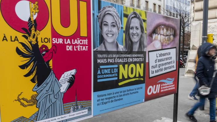 In Genf stimmten die Stimmbürger über drei kantonale Vorlagen ab. Gemäss den vorläufigen Resultaten wurde das revidierte Gesetz zur Trennung von Kirche und Staat angenommen.