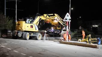 Bauarbeiten OeBB in Balsthal