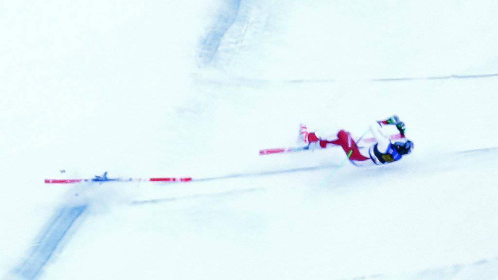 Marc Gisin stürzte in der Abfahrt in Val Gardena schwer