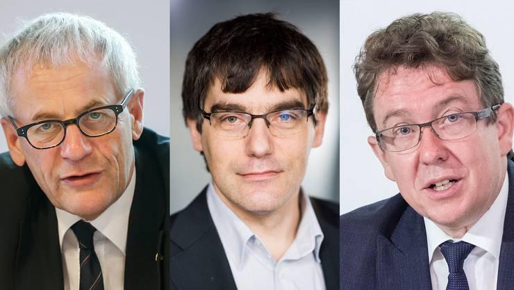 FDP-Nationalrat Kurt Fluri, SP-Fraktionschef Roger Nordmann und SVP-Präsident Albert Rösti
