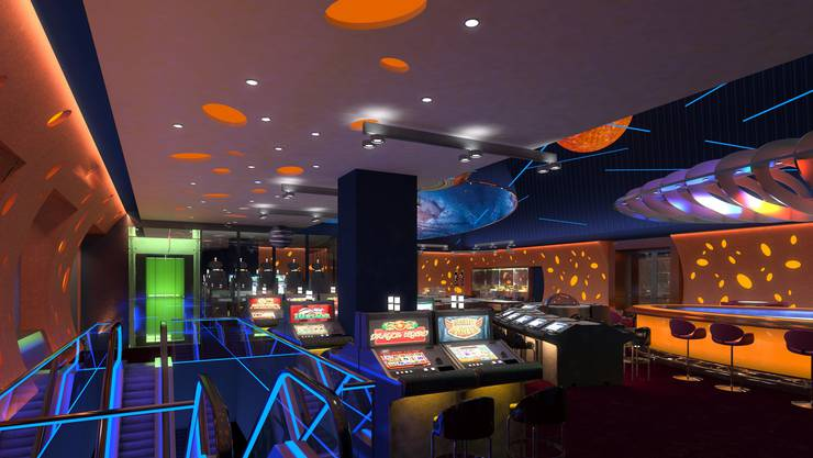Neu werden Casino-Besucher über eine Rolltreppe vom oberen Stock in den unteren Spielsaal gelangen.