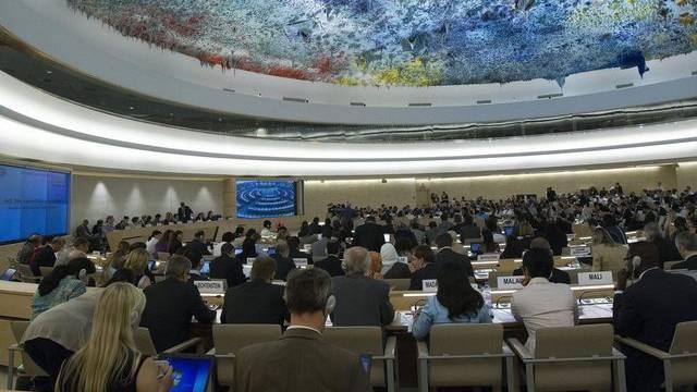 Blick in den UNO-Menschenrechtsrat in Genf (Archiv)