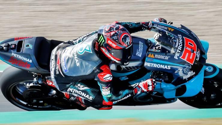 Mit 21 Jahren erstmals zuoberst auf einem MotoGP-Podest: der Franzose Fabio Quartararo