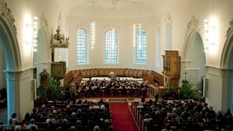 Das Guitar Sound Orchestra – hier bei einem Konzert in der Brugger Stadtkirche – wird im Salzhaus auftreten. ZVG