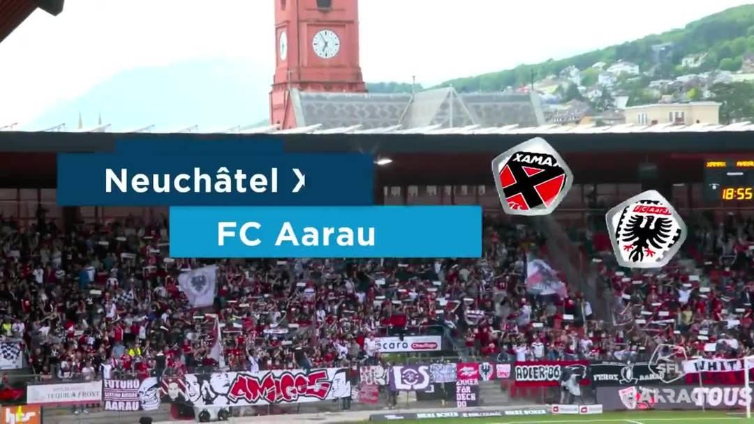 Barrage-Hinspiel, 2018/19, Neuenburg Xamax – FC Aarau, Highlights