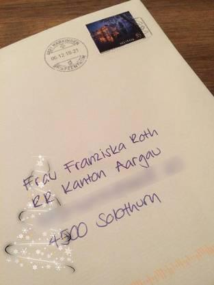 Die Post an die Solothurnerin, die eigentlich an eine Aargauerin sollte.