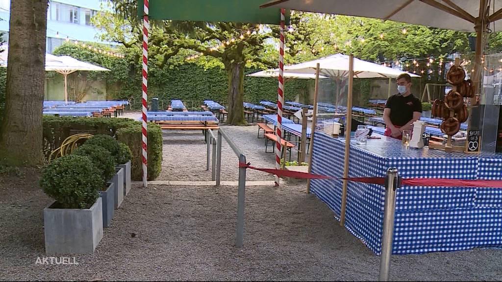 Kanton Aargau eröffnet diverse Biergärten wieder