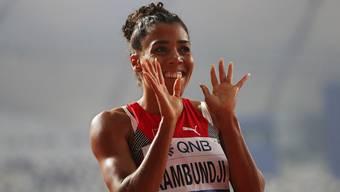 Schweizer Sprinterin Mujinga Kambundji jubelt über ihren ersten WM-Final