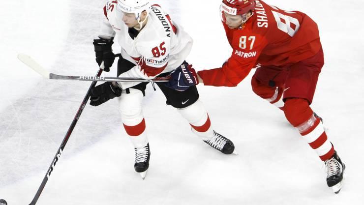 Spieler wie Sven Andrighetto (l.) können in der Offensive den Unterschied zugunsten der Schweizer ausmachen.