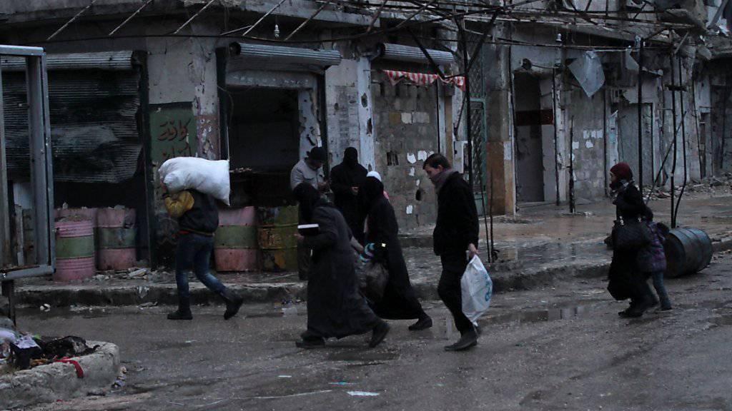Ein Hoffnungsschimmer für die Zivilisten in Aleppo? Rebellen berichten von einer neuen Waffenruhe.