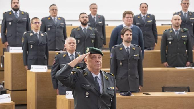 Entlassungsfeier für Offiziere und Unteroffizier im Aargau 2020