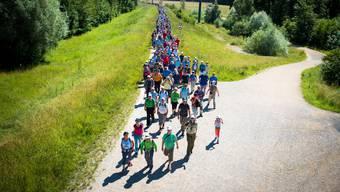 10. Etappe: 16,4 Kilometer von Aarau nach Schinznach-Dorf.
