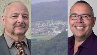Sowohl Stefano Martino (SVP, l.) als auch Jörg Fankhauser (parteilos, r.) wollen in den Gemeinderat von Mägenwil.