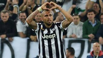 Juventus' Matchwinner Arturo Vidal